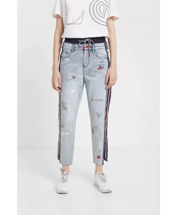 2020 new Desigual  Women Hybrid jogger jeans 20SWDD075007