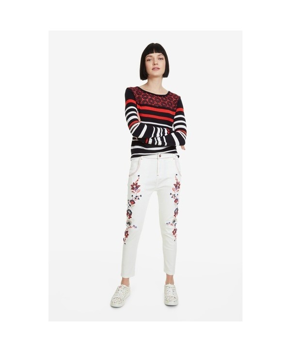 2020 new Desigual  Women white Printed pants