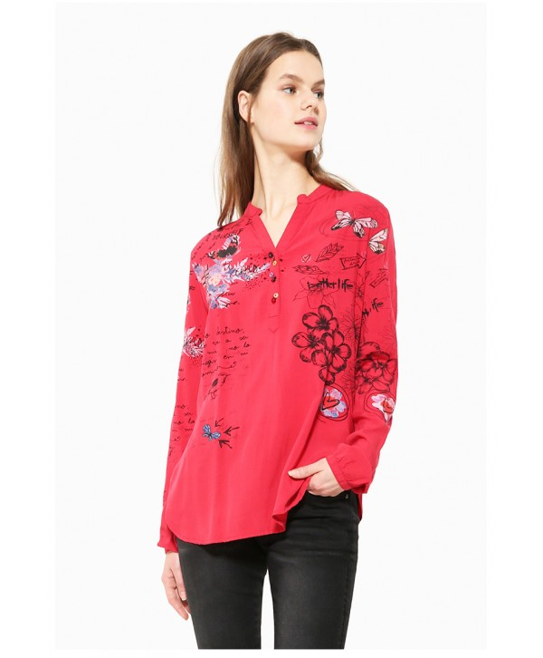 Desigual Women Shirt LISA 17WWBW19 Red